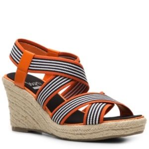 impo Nicole Wedge Sandals Sunset Orange 7